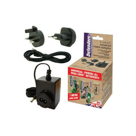 UNIVERSAL 9V MAINS ADAPTOR + 5M EXTENSION