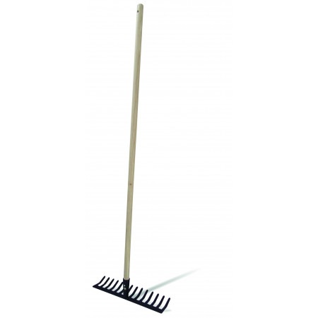 RAKE WITH WOODEN HANDLE 14 Picks-120CM