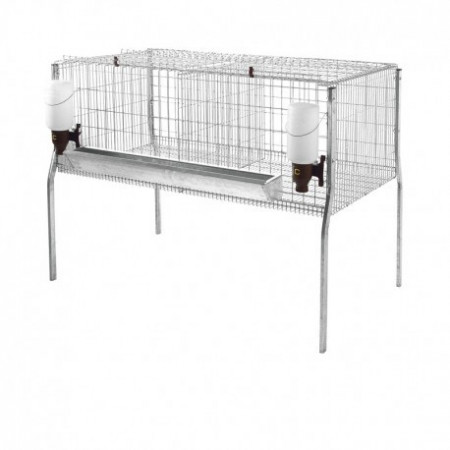 2 APARTMENTS CAGE FOR FATTENING CHICKENS