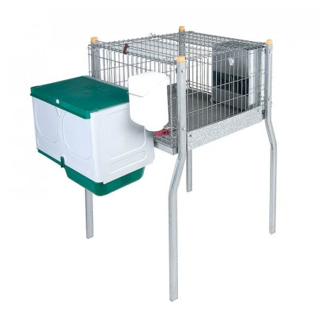 CAGE WITH PAWS AND NEST FOR RABBITS MILAN