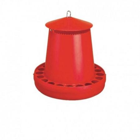 RED PLASTIC HOPPER 8 KG. MOUNTAIN