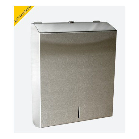 DISPENSADOR TOALLAS DE PAPEL DE ACERO INOX.