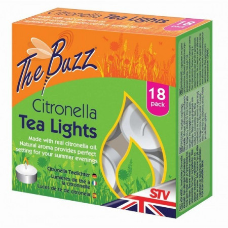 BOUGIE A LA CITRONNELLE 'TEA LIGHTS' 18u
