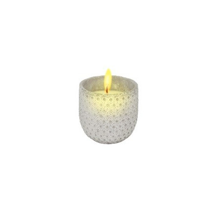 DECORATIVE STONE CANDLE WITH CITRONELLA