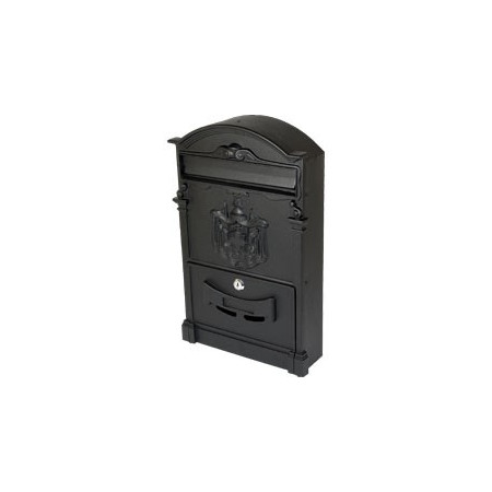 BLACK ALUMINUM MAILBOX FOR GARDEN