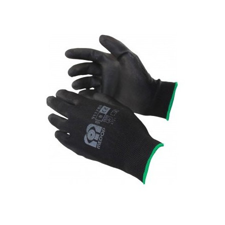 PU-RE BLACK GLOVES FOR DRY SURROUNDINGS SIZE 7