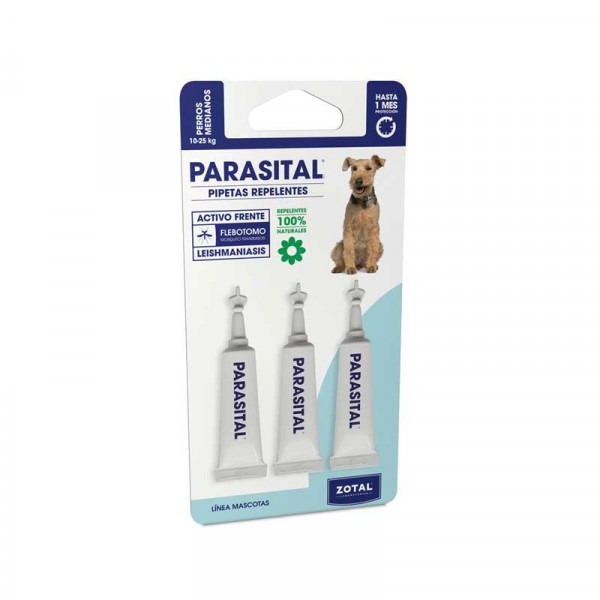 REPELLENT PIPETTES OF PARASITES IN DOGS