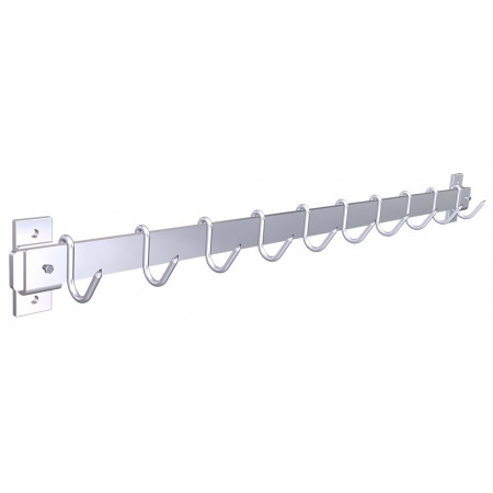 WALL MOUNTED RACK WITH HOOKS