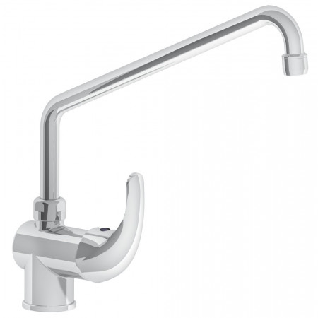 SINGLE LEVER TABLE TAP WITH ELEVATED ROTATING SPOUT