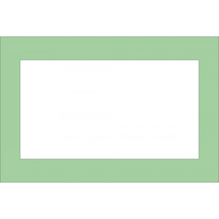 CARDBOARD PLATES WHITE ADHESIVE (PACK 6UNID)