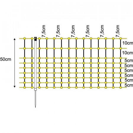 ELECTRIC MESH RABBITS 0.50X50m