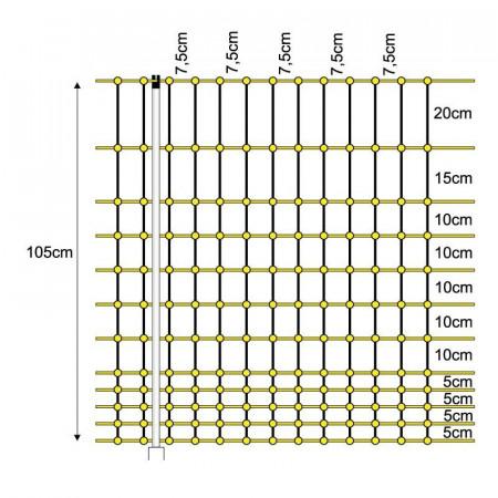 MAILLE ÉLECTRIQUE OISEAUX 1.05X50cm