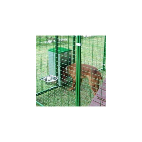 GALVANIZED HOPPER FOR PARKS AND KENNELS