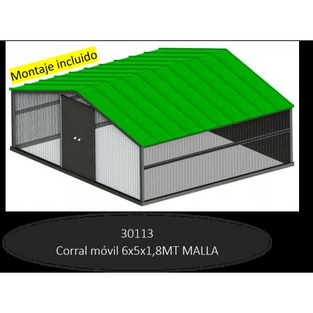 LONG MOBILE CORRAL 5MTS MESH