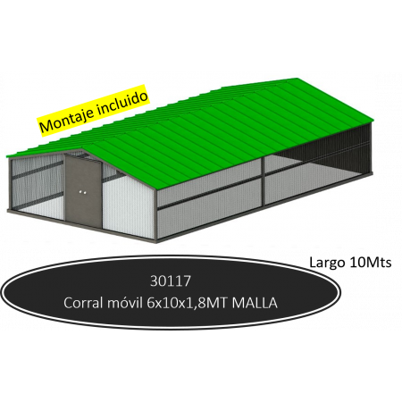 Corral móvil 10 mts de malla