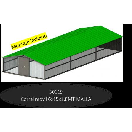 LONG MOBILE CORRAL 15MTS MESH