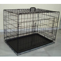 MEDIAN DOG CAGE WITH TWO DOORS