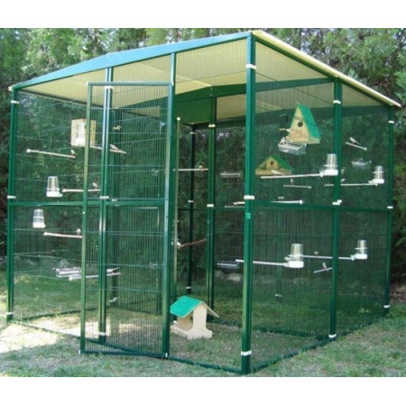 GARDEN AVIARY 4 M² BROKE IN THE MIDDLE