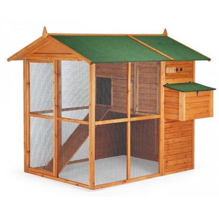 grand poulailler pr fabriqu. Black Bedroom Furniture Sets. Home Design Ideas