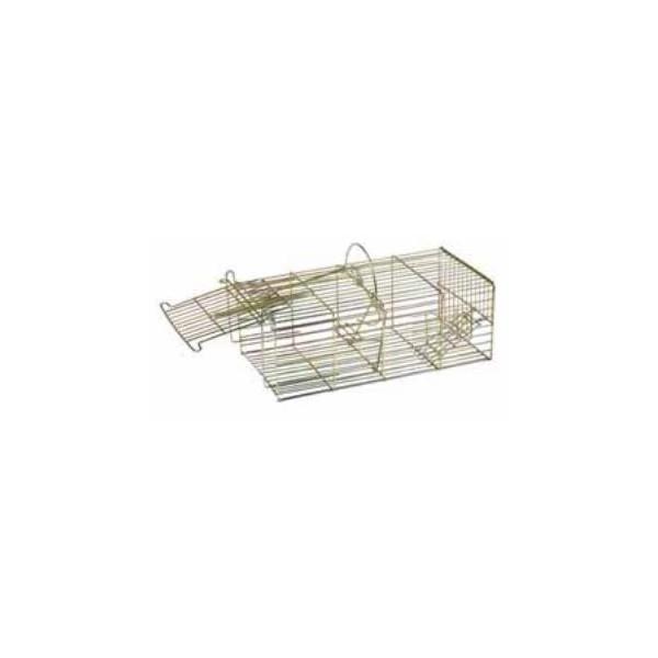 jaula metálica para captura de varios ratones