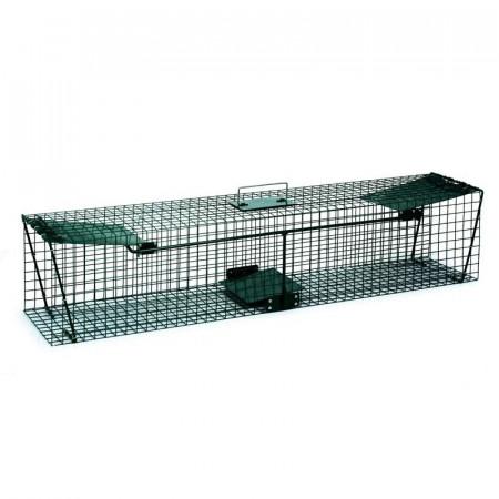 Jaula color verde con dos accesos para ratas pequeñas