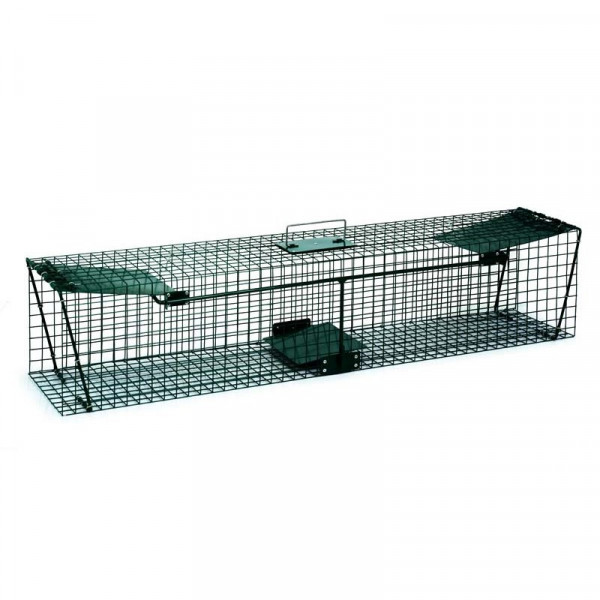 Green cage with two accesses for small rats
