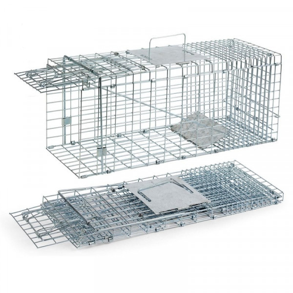 Foldable cat and rabbit trap