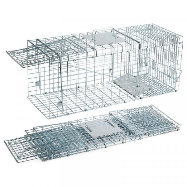 Foldable trap for catching cats and rabbits