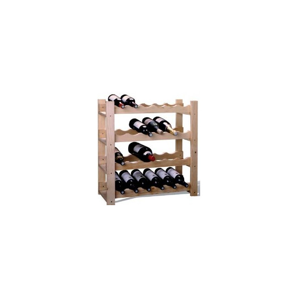 WOODEN WINE RACK 24 BOTTLES