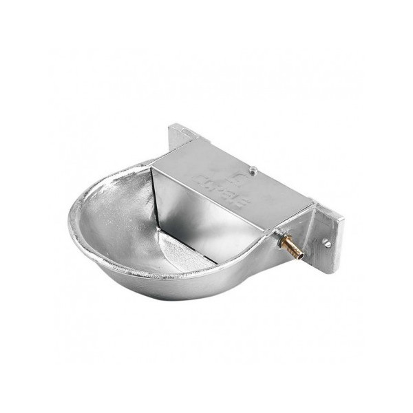 Low pressure aluminum drinker with flap for dogs