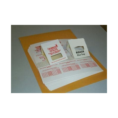 Trampa adhesiva para cucarachas, cinches, e insectos terrestres DIVISIBLE x 3