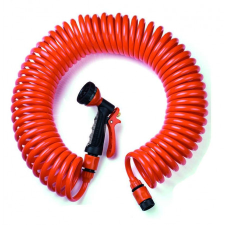 SPIRAL HOSE WITH GUN METAL 7.5M