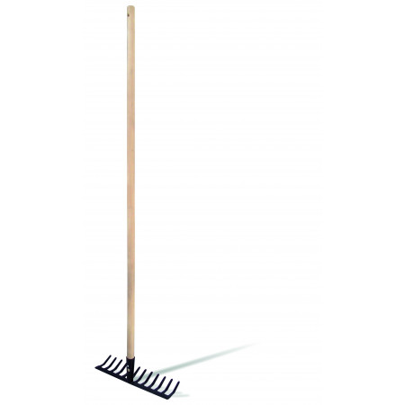 RAKE WITH WOODEN HANDLE 12 Picks-120CM