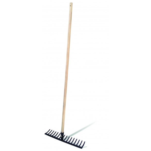 RAKE WITH WOODEN HANDLE 16 Picks-120CM