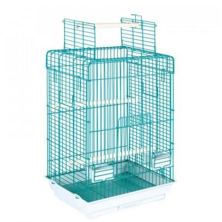 jaula desmontable con abertura superior para loros