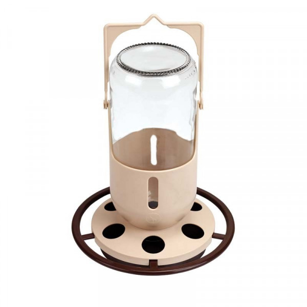 abreuvoir ou auge avec récipient en verre