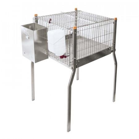 jaula para conejos con y sin nido