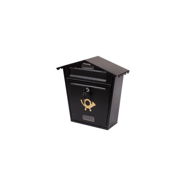 BLACK METAL MAILBOX FOR GARDEN