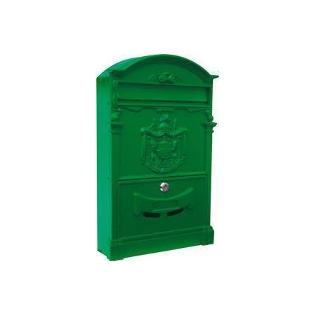 GREEN ALUMINUM MAILBOX FOR GARDEN