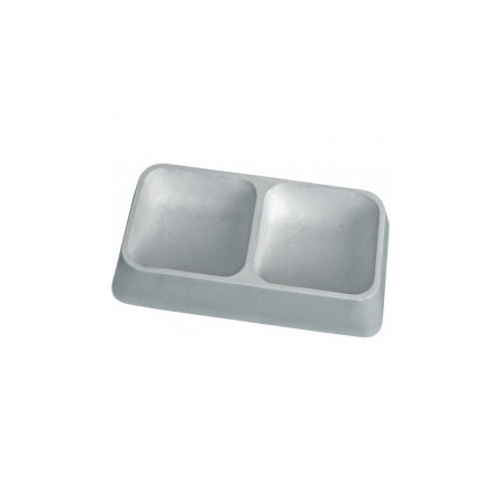 drinking bowl for dogs double square structure