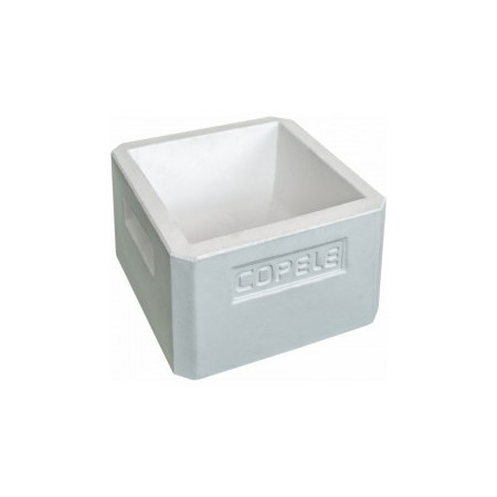 square shaped concrete animal feeder