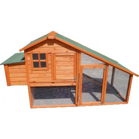 caseta de madera con capacidad para 6 gallinas