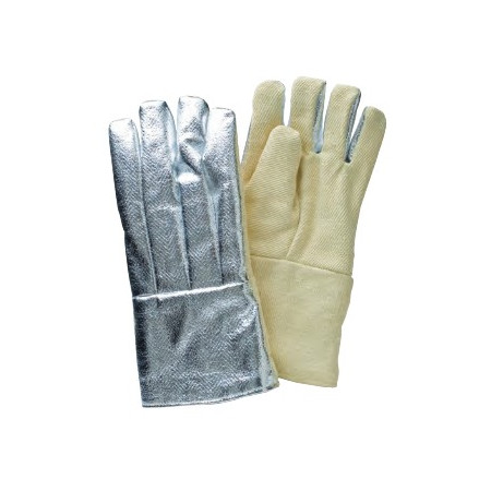 PAIR OF GLOVES ALUMINIZED WITH PALM OF ARAMIDA SIZE 9