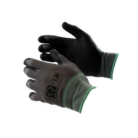 POLYESTER GLOVES WITH FOAM NITRILE COATING SIZE 6