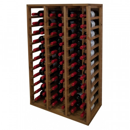 BOTTLE RACK MODULAR OAK WITH 2 SPECIAL ROWS FOR BOTTLES OF UP TO 10,5 CM OR MAGNUM