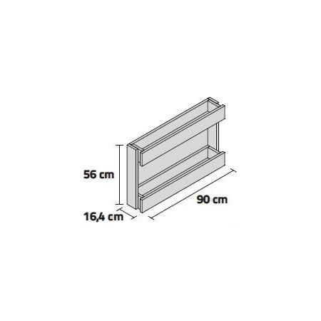 JARDINERA STAND LINE (PARED) WALL 90 2B