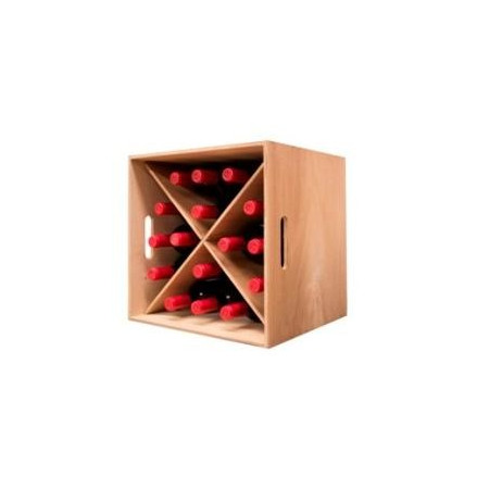 BOTTLER CUBE BOARD COLOR OAK FOR 16 BOTTLES