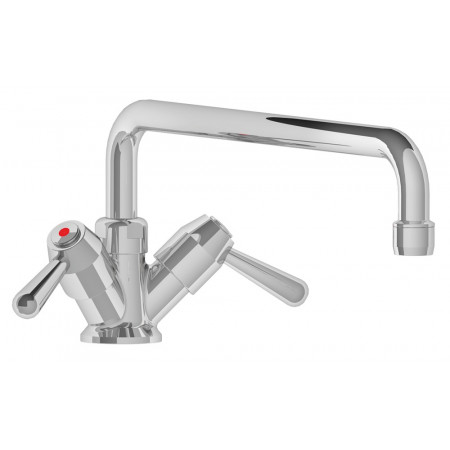 1/4 TURN DOUBLE INLET ROTATING TAP WITH LOW PROFILE SPOUT