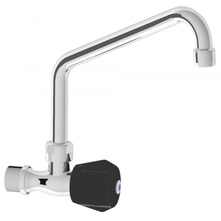 SINGLE INLET LONG-NECK WALL TAP WITH INSULATING TAP HEAD