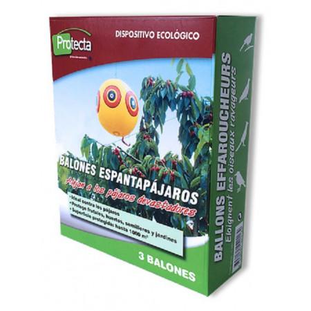 ESPANTAPAJAROS EN FORMA DE GLOBOS DE DIFERENTES COLORES (PACK 3UND.)
